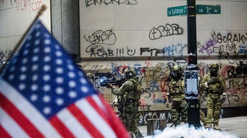 Portland / USA / Nepokoje / Demonštrácia /