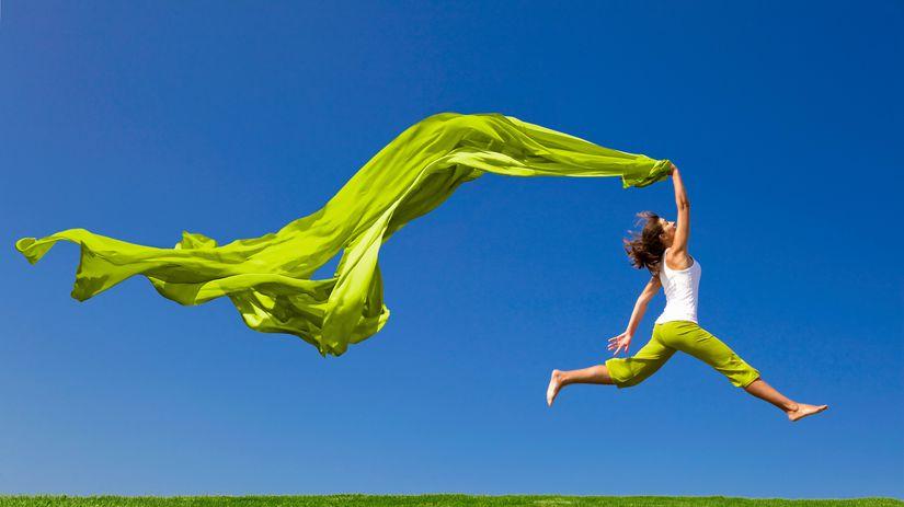 sloboda, voľnosť, pohyb, lúka, závoj, zelená