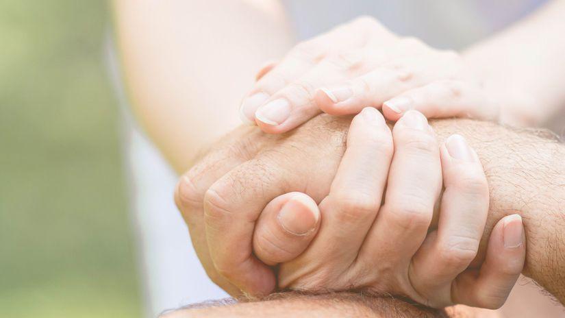 ruky, opora, spolu