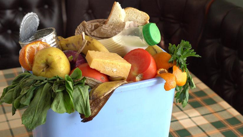 plytvanie, potraviny, odpadky, chlieb, kôš