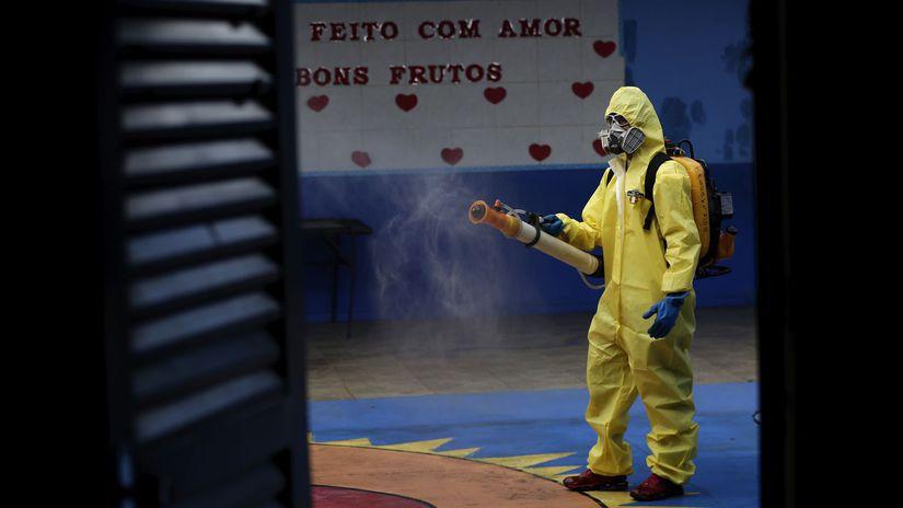 brazília koronavírus dezinfekcia