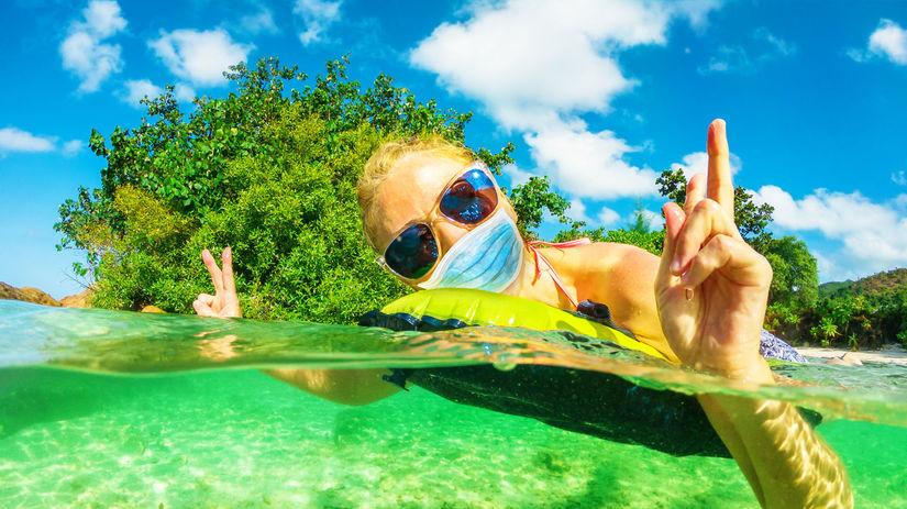 dovolenka, leto, more, rúško, ochrana,...