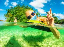 dovolenka, leto, more, rúško, ochrana, prevencia, plávanie