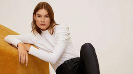 Čierne elastické džínsy Mango, predávajú sa za 29,99 eura.