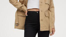 Džínsy elastické džínsy H&M, predávajú sa za 19,99 eura.