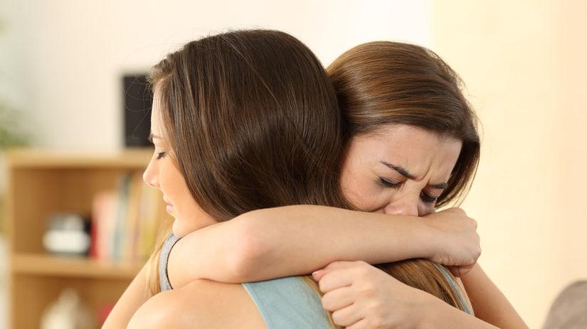 kamarátky, žena, ženy, plač, smútok, priateľstvo