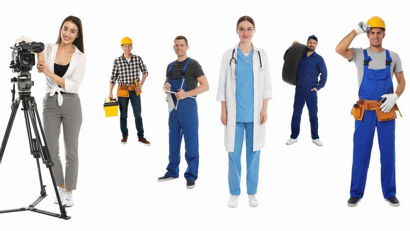 profesie, zamestnania, povolania, práca