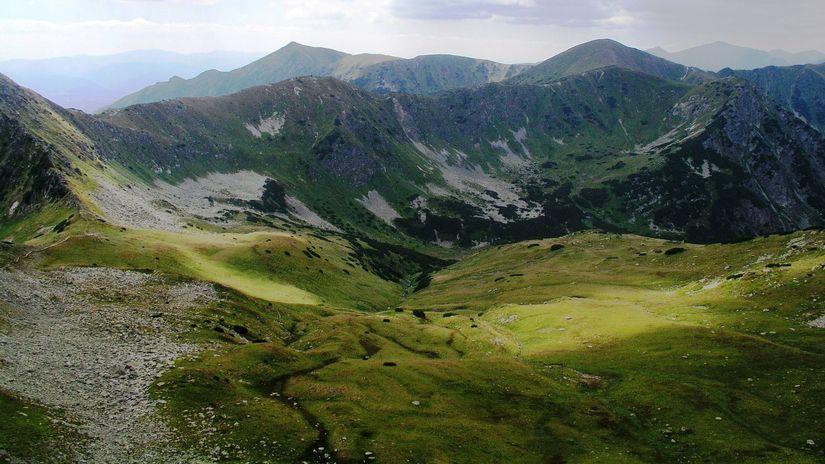 Temná Tichá v závere Tichej doliny spod...