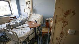 libanon bejrút explózia výbuch nemocnica trosky
