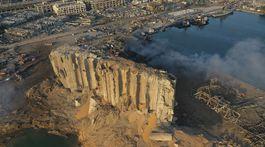 libanon bejrút silo výbuch trosky ruiny