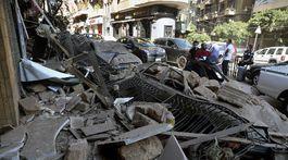 libanon bejrút výbuch ruiny trosky