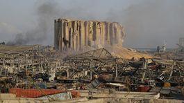 libanon bejrút výbuch trosky