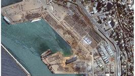 libanon bejrút prístav explózia výbuch koláž