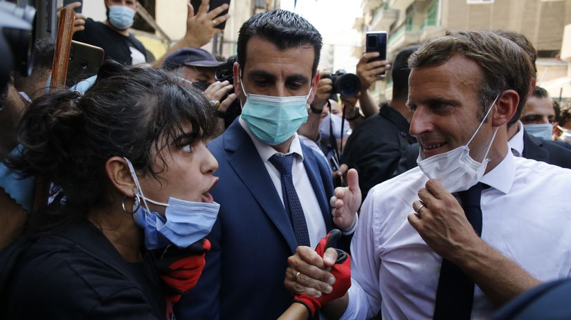 Libanon Bejrút výbuchy Francúzsko Macron návšteva