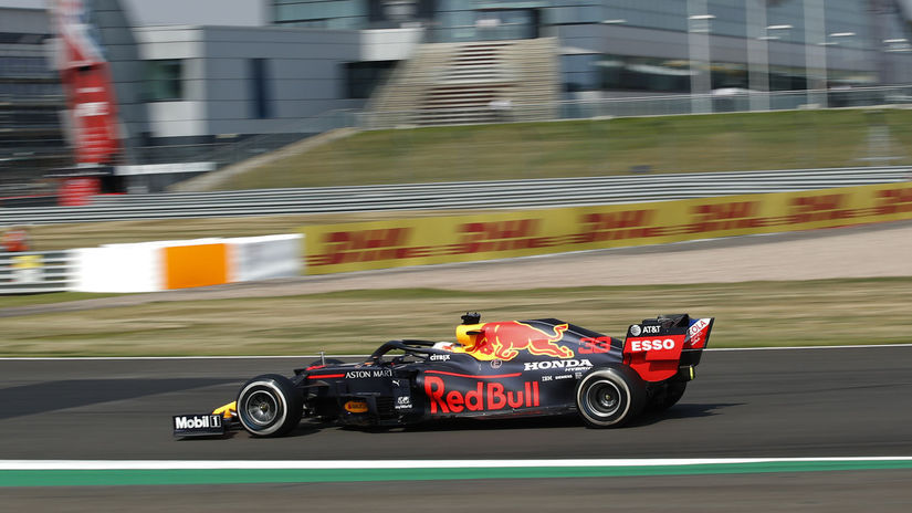 Britain F1 GP Auto Racing Verstappen