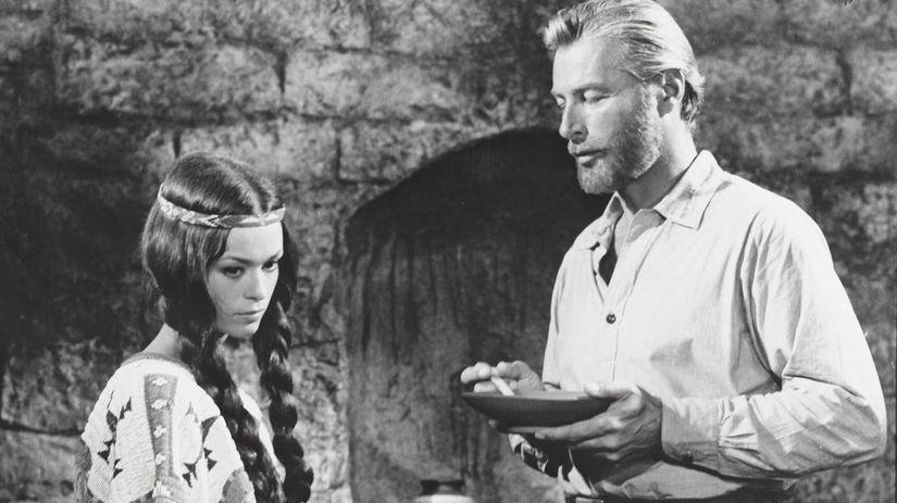 Herečka Marie Versini a jej kolega Lex Barker...