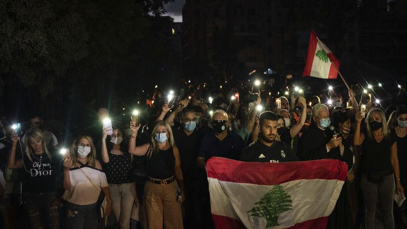 Libanon výbuch protesty