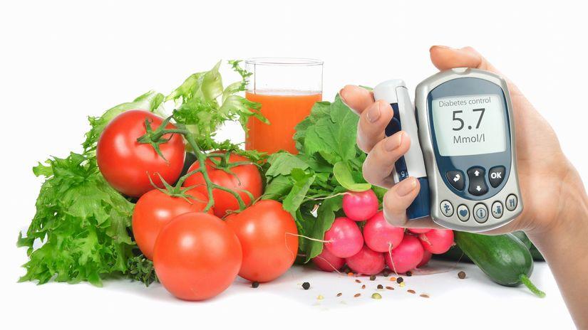 zelenina, glukomer, strava, diabetes