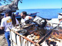 Maurícius loď ropa únik katastrofa následky odstraňovanie