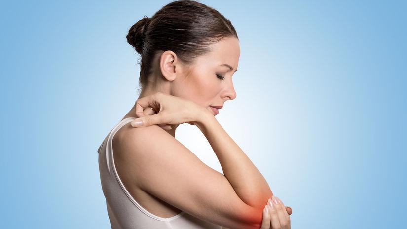 žena, bolesť, lakeť, kĺb, artróza