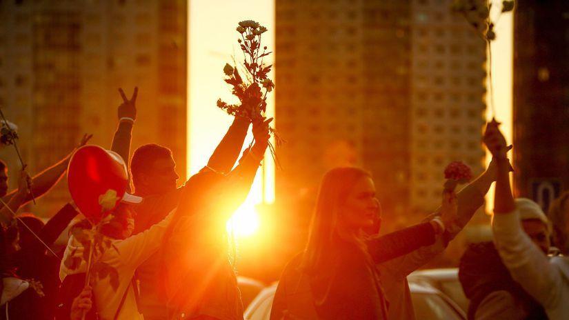 bielorusko minsk protest