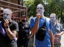 Lukašenko, demonštrácia