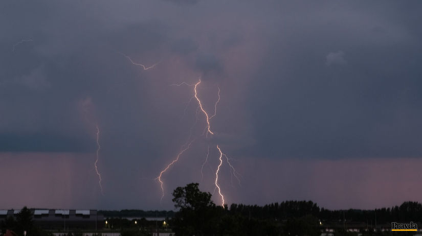 búrka, počasie, blesky