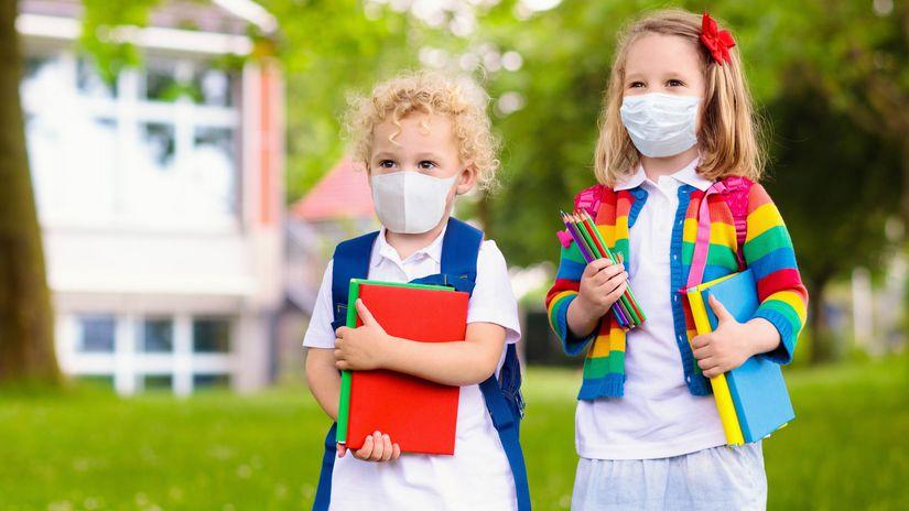 deti, žiaci, škola, rúška
