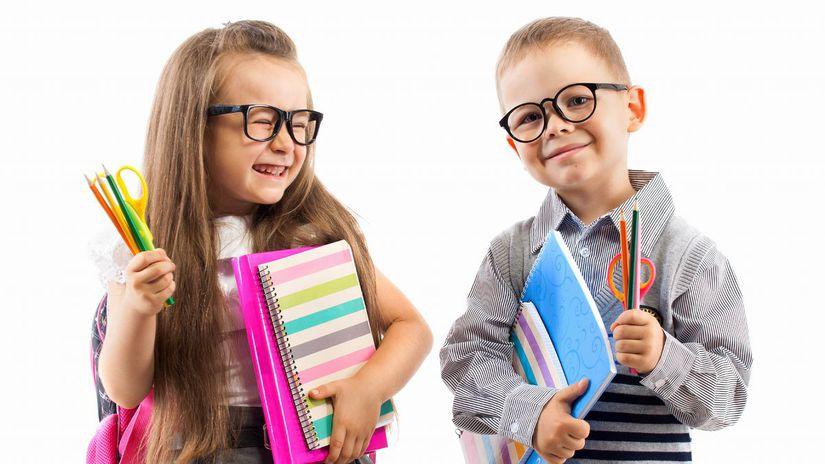 deti, žiaci, škola, školské pomôcky