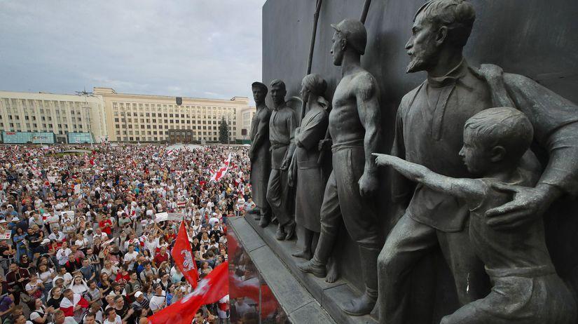 Bielorusko demonštrácia protest
