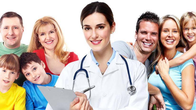 rodina, rodičia, deti, doktorka, úsmev, prevencia