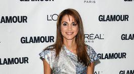 Jordánska kráľovná Rania na akcii Glamour Women of the Year Awards v roku 2010.