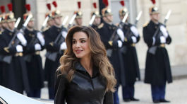 Jordánska kráľovná Rania na návšteve Francúzska v roku 2019.