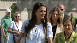 Jordánska kráľovná Rania na návšteve Maďarska v roku 2007.