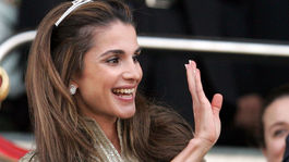 Jordánska kráľovná Rania na v roku 2009.