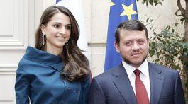 Jordánsky kráľ Abdullah II a jeho manželka, kráľovná Rania na návšteve Francúzska v roku 2006.