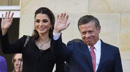 Jordánsky kráľ Abdullah II a jeho manželka, kráľovná Rania na návšteve Nemecka v roku 2016.
