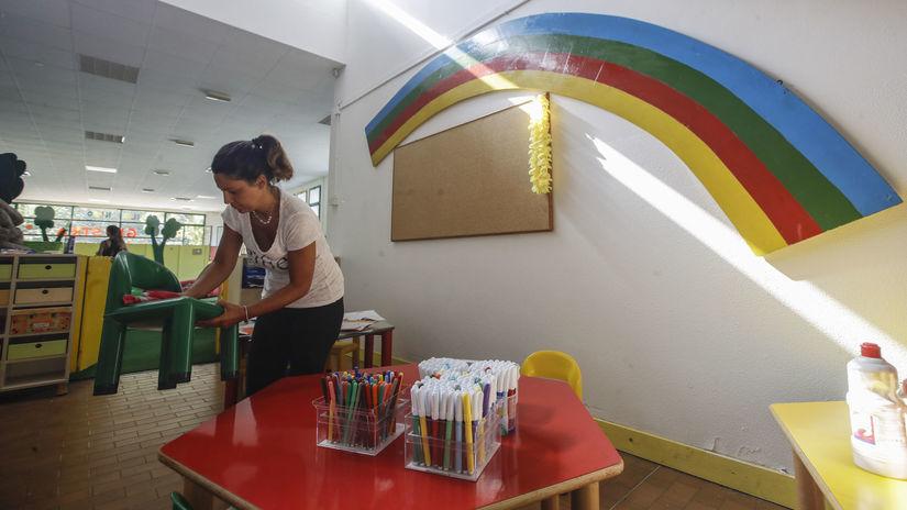 koronavírus, materská škola, Taliansko