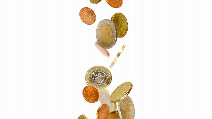 euro, mince, peniaze, stĺp, pilier