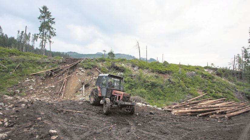 traktor, Bielovodská dolina, príroda, ničenie,...