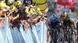 11. etapa špurt Sagan Van Aert