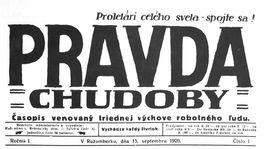 Pravda, titulná strana, titulka 15. september 1920