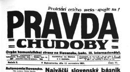 Pravda, titulná strana, titulka 13. november 1921