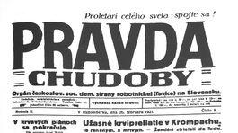Pravda, titulná strana, titulka 26. február 1921