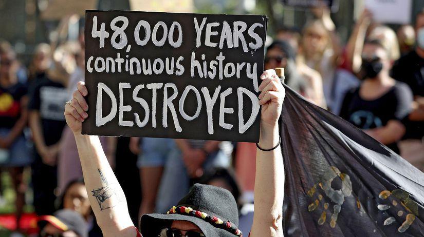 Austrália Aborigéni svätyne zničenie manažér...
