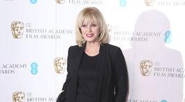 Britain Academy Film Awards Herečka Joanna Lumley na zábere z roku 2018.