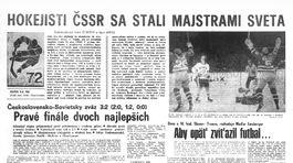 Pravda, športová strana, 21. apríl 1972