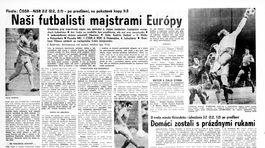Pravda, športová strana, 21. jún 1976