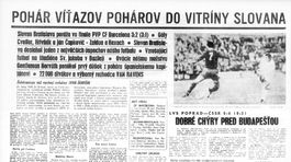 Pravda, športová strana, titulka 22. máj 1969