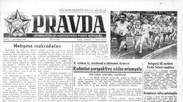 Pravda, titulná strana, titulka 1. september 1957